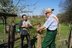 IV Kalthof 20.04.2019 Neuer Zaun für Bienenstand Foto: Norbert Pusch